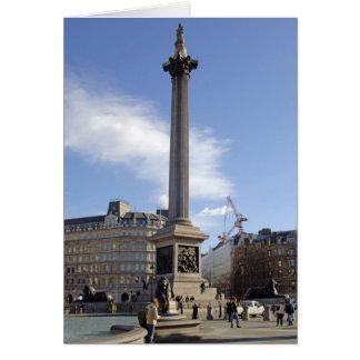 Tarjeta de Londres de la columna de Nelson