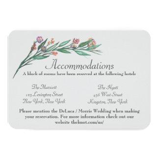 tarjeta de los alojamientos de la flor invitación 8,9 x 12,7 cm