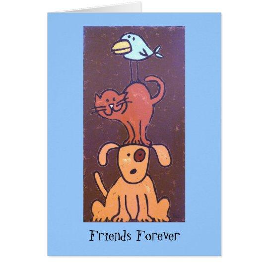 Tarjeta de los amigos del tótem