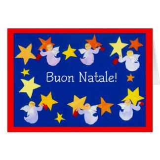 Tarjeta de los ángeles del navidad, italiana