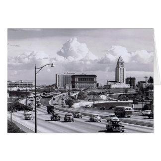 Tarjeta de los años 50 de la autopista sin peaje