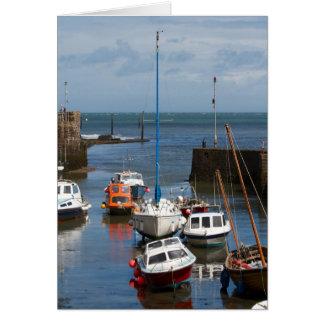 Tarjeta de los barcos del puerto de Lynmouth