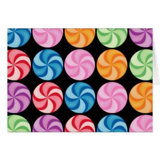 Tarjeta de los caramelos de Swirly