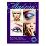 Tarjeta de los comp del artista de maquillaje postal