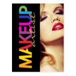 Tarjeta de los comp del artista de maquillaje tarjeta postal