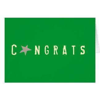 Tarjeta de los congrats de los gráficos del Kat