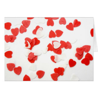 Tarjeta de los corazones del el día de San Valentí