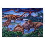 Tarjeta de los dinosaurios