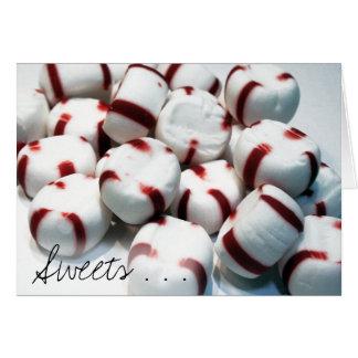 Tarjeta de los dulces…