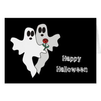 Tarjeta de los fantasmas de Halloween