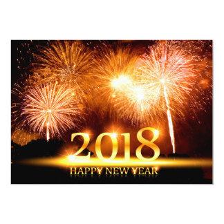 Tarjeta de los fuegos artificiales de la Feliz Año