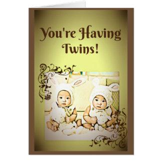 Tarjeta de los gemelos