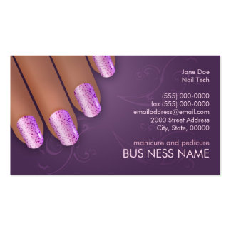 Tarjeta de los negocios y de la cita del manicuro plantillas de tarjeta de negocio