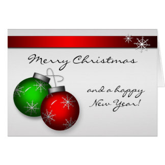 Tarjeta de los ornamentos del navidad