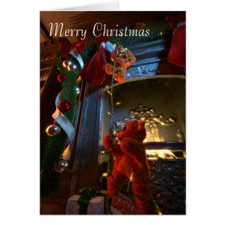 Tarjeta de los osos del navidad