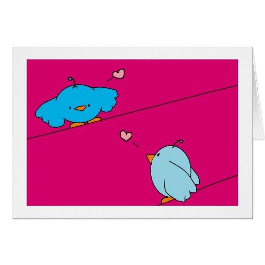 tarjeta de los pájaros del amor