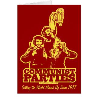 Tarjeta de los Partidos Comunistas