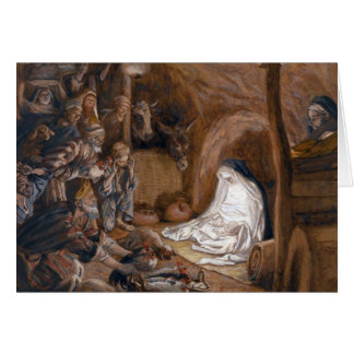 """Tarjeta de los pastores de Tissot """"la adoración"""""""