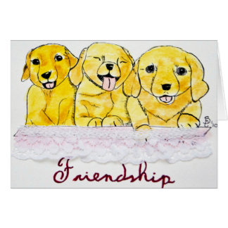 Tarjeta de los perritos de la amistad
