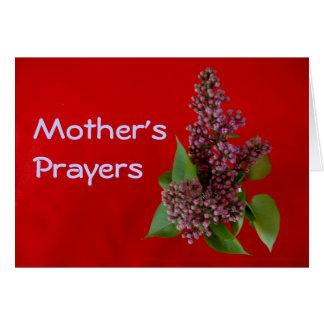 tarjeta de los rezos de la madre