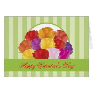 Tarjeta de los rosas del el día de San Valentín
