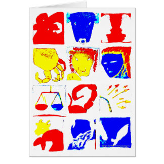 Tarjeta de los símbolos de la astrología