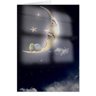 Tarjeta de los sueños dulces y de los pájaros el
