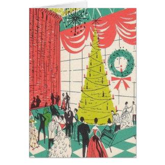 Tarjeta de lujo de la fiesta de Navidad