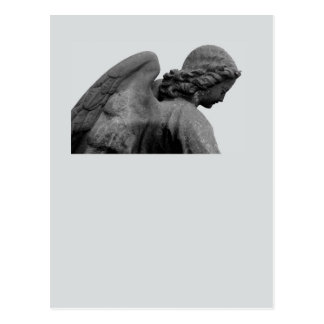 Tarjeta de luto con ángel postal