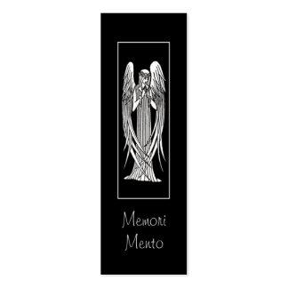 Tarjeta de luto del ángel de Beardsley Tarjetas De Visita Mini