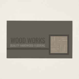 Tarjeta de madera de la teja del servicio del