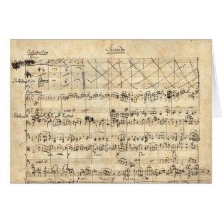 Tarjeta de manuscrito del piano de Felix