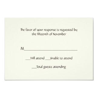 Tarjeta de marfil de uso múltiple de la respuesta invitación 8,9 x 12,7 cm