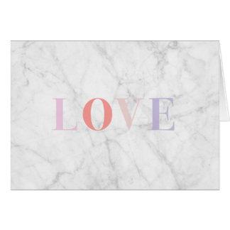 Tarjeta de mármol del amor
