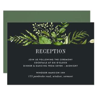 Tarjeta de medianoche de la recepción del jardín invitación 8,9 x 12,7 cm