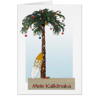 Tarjeta de Mele Kalikimaka