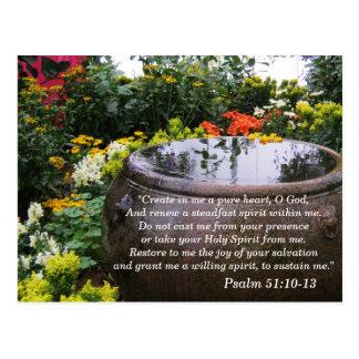 Tarjeta de memoria de la escritura 10-13 del salmo