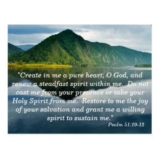 Tarjeta de memoria de la escritura del salmo 51 10