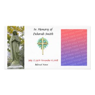 tarjeta de memoria de la familia (cristiano) tarjeta fotográfica personalizada