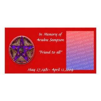 tarjeta de memoria de la familia (pagan) tarjeta personal con foto