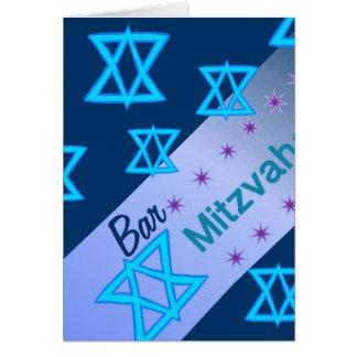 Tarjeta de Mitzvah de la barra
