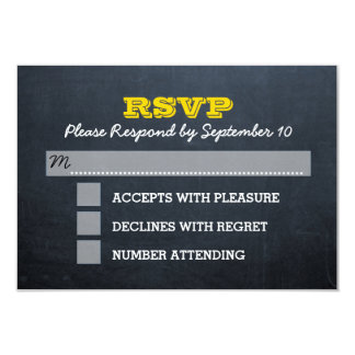 Tarjeta de Mitzvah RSVP de la barra de oro de la Invitación 8,9 X 12,7 Cm