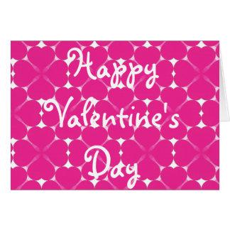 Tarjeta de modelo rosada del corazón del el día de
