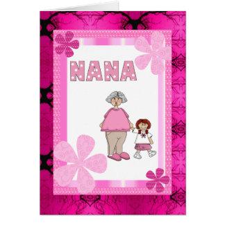 Tarjeta de Nana y de la nieta