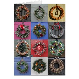 Tarjeta de Navidad 12 de las guirnaldas