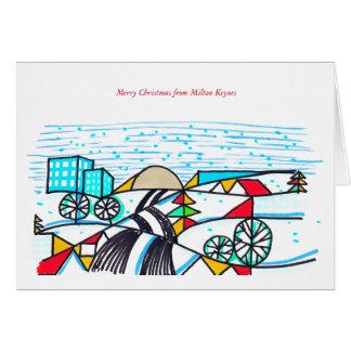 Tarjeta de Navidad 2016 de Milton Keynes de