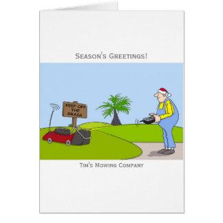 Tarjeta de Navidad adaptable del servicio del