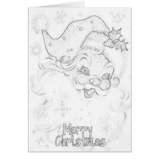 Tarjeta de Navidad adulta del colorante
