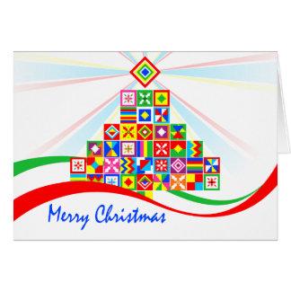 Tarjeta Tarjeta de Navidad africana de la impresión del