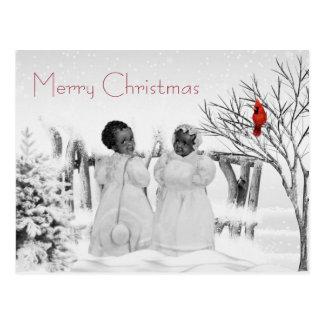 Tarjeta de Navidad afroamericana